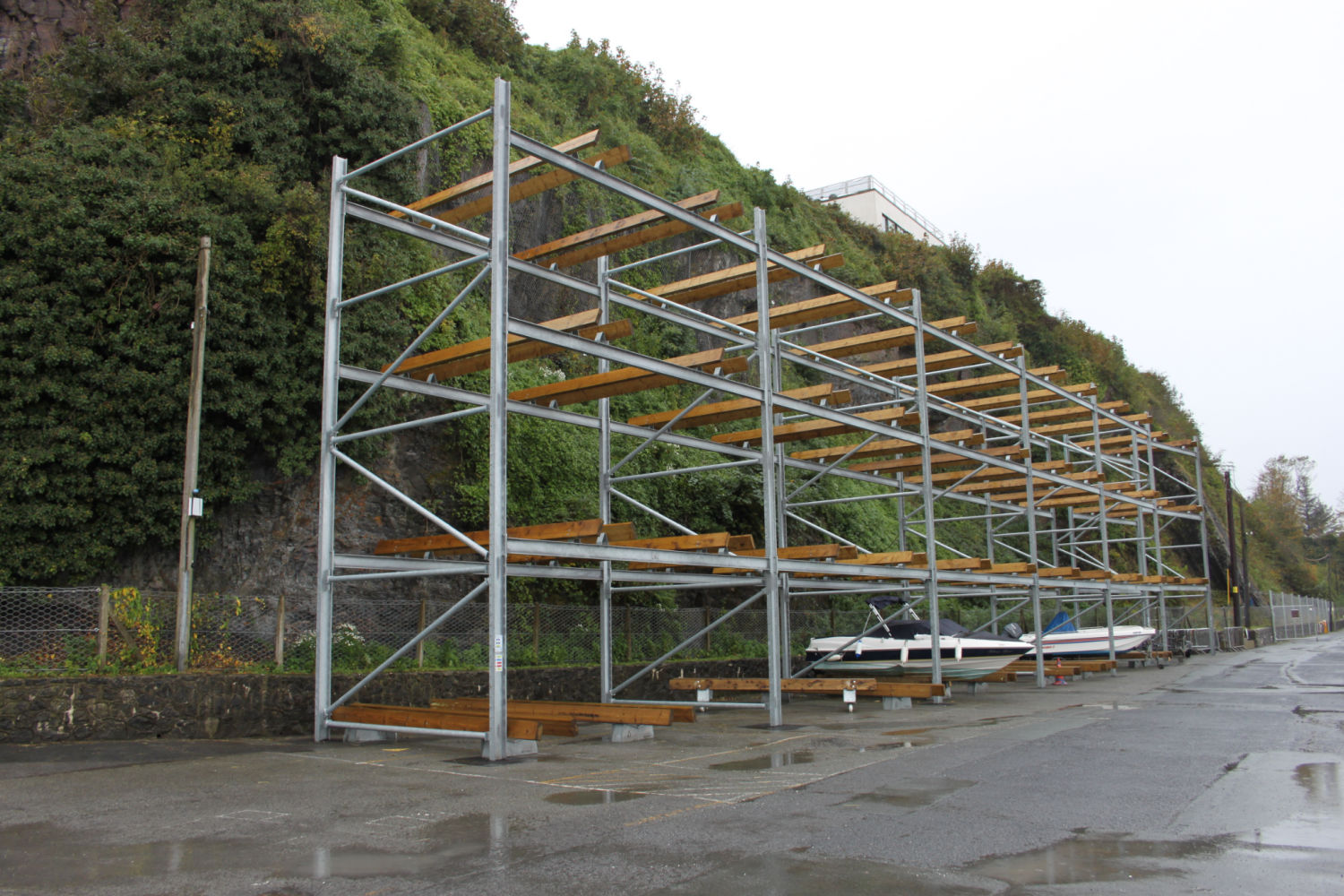 Dry STack Racking at Saundersfoot Harbour