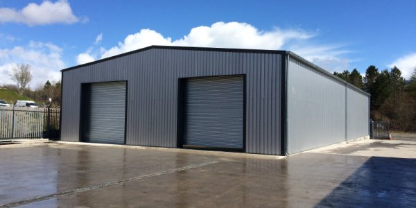 completed rack clad building project
