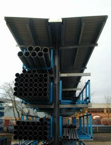tube storage system with canopies