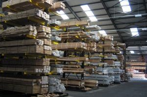 warehouse with extrusion storage systems