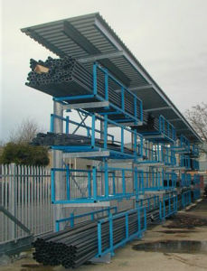 external racking system with canopies