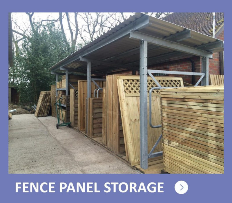 Fence Panel Storage Racks - button to page