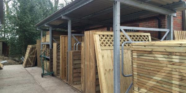 fence panel storage application
