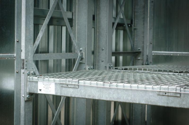 mesh deck on a heavy duty racking beams