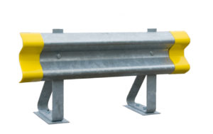 SPRUNG POST ARMCO BARRIER