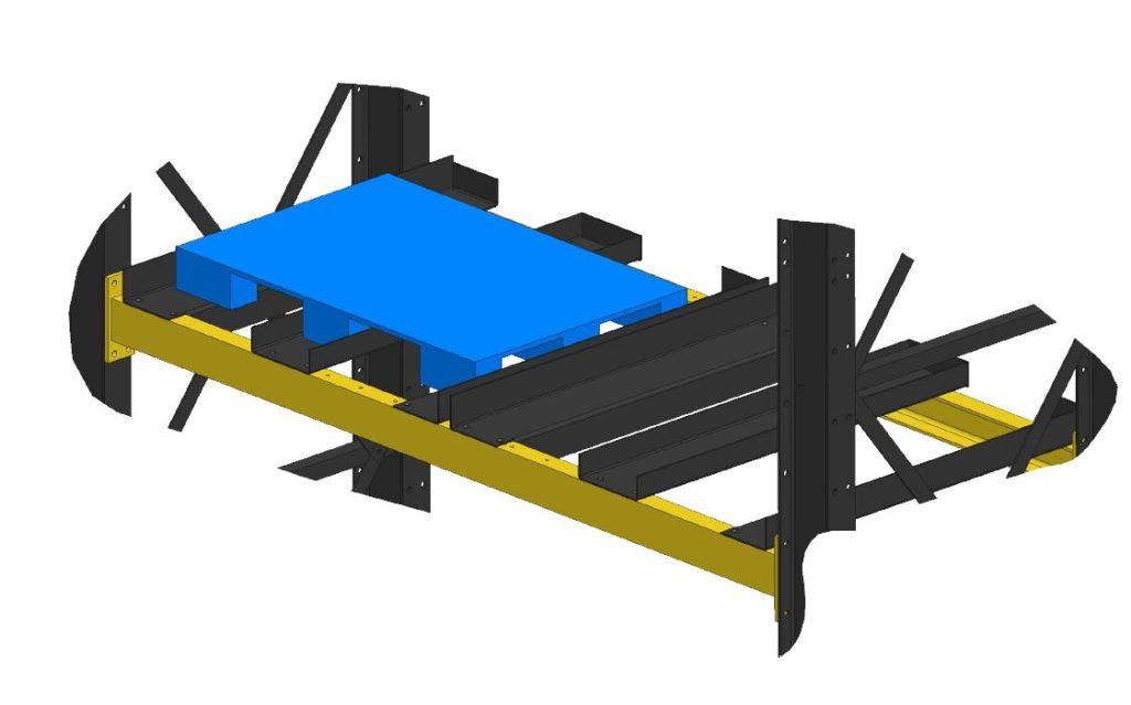 example of skid channels on heavy duty racks