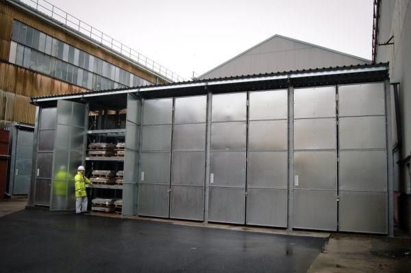 rack clad building with heavy duty racks