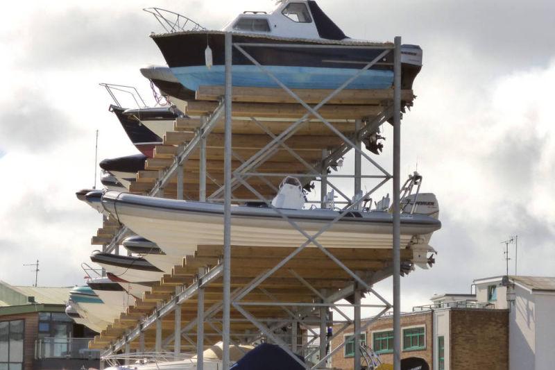 dry stack boat storage system