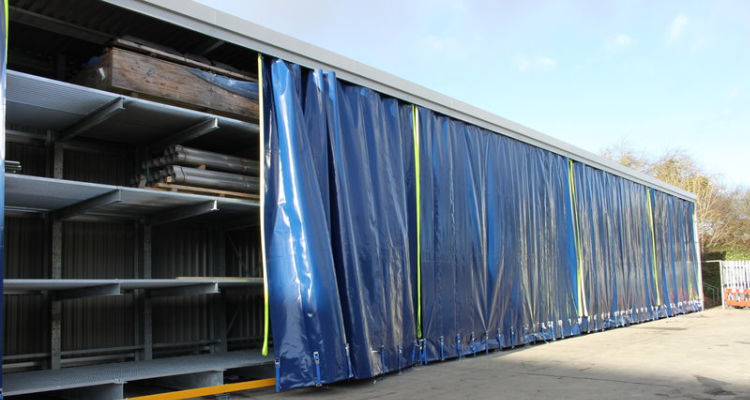 Enclosed cantilever racking system