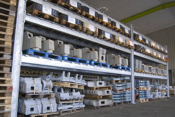 various tools stored on heavy duty racking