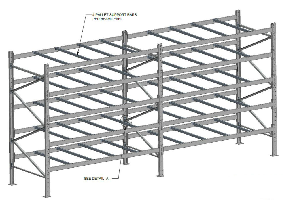structural pallet racking layout drawing
