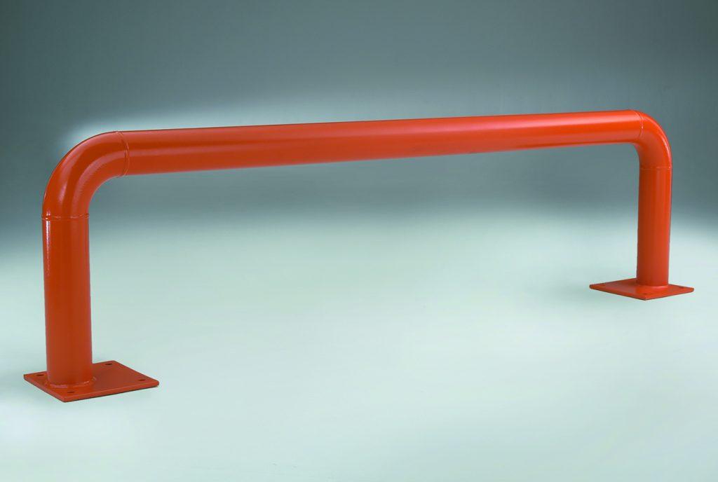 tubular rack end barrier