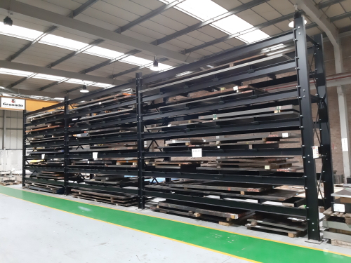 Heavy Duty Structural Steel Rack for sheet metal storage